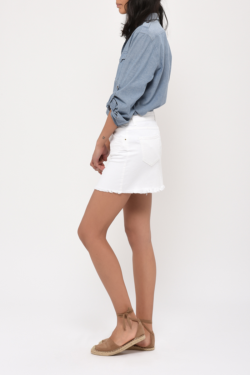 Jupe Beth Denim White