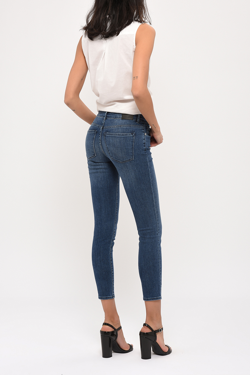 Jean 7/8ème Lisa Crop Denim Dark